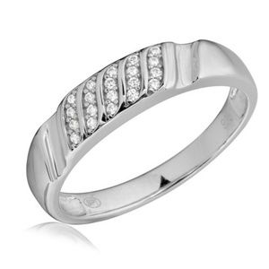 Other - Men Sterling Silver 925 CZ Wedding band Ring